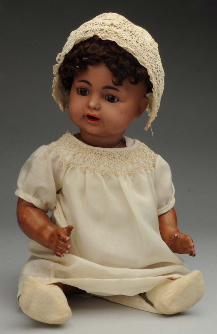 Rare Brown Bisque Baby Doll.