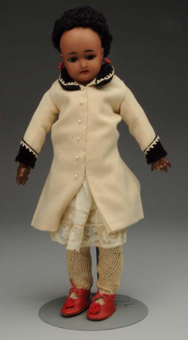 Brown Bisque Child Doll.