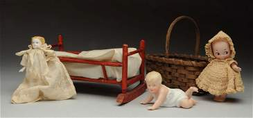 Lot of Antique Dolls & Accessories.
