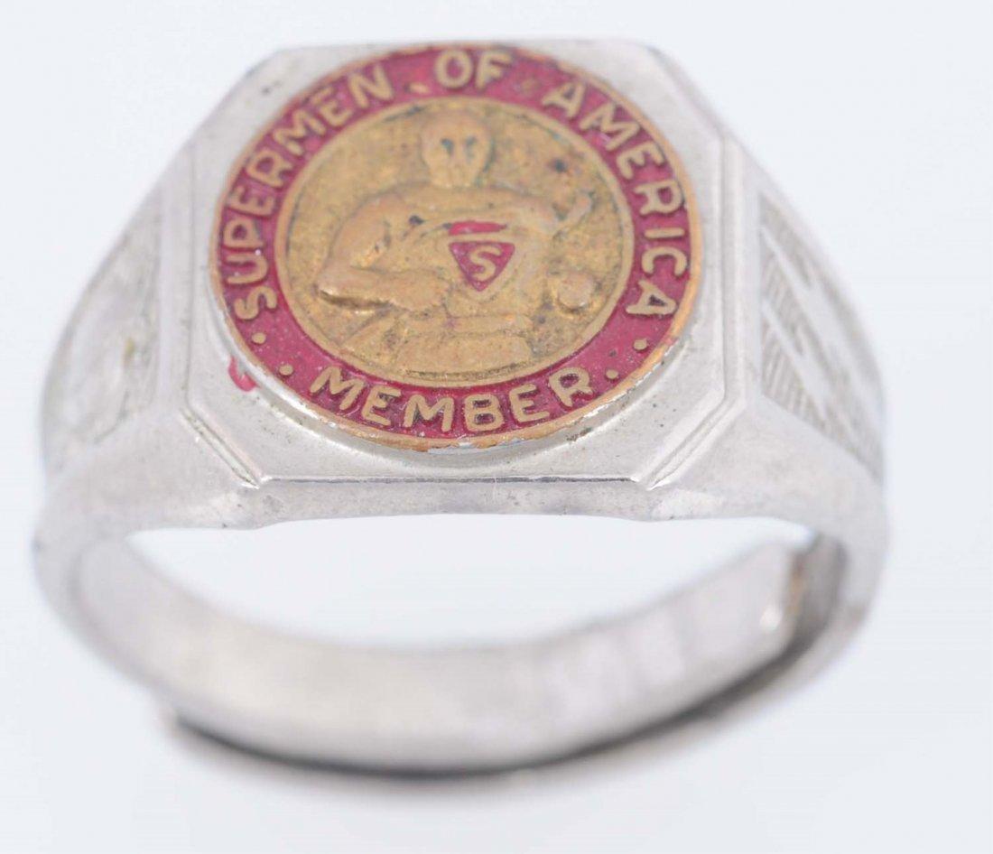 1940 Superman of America Membership Ring.