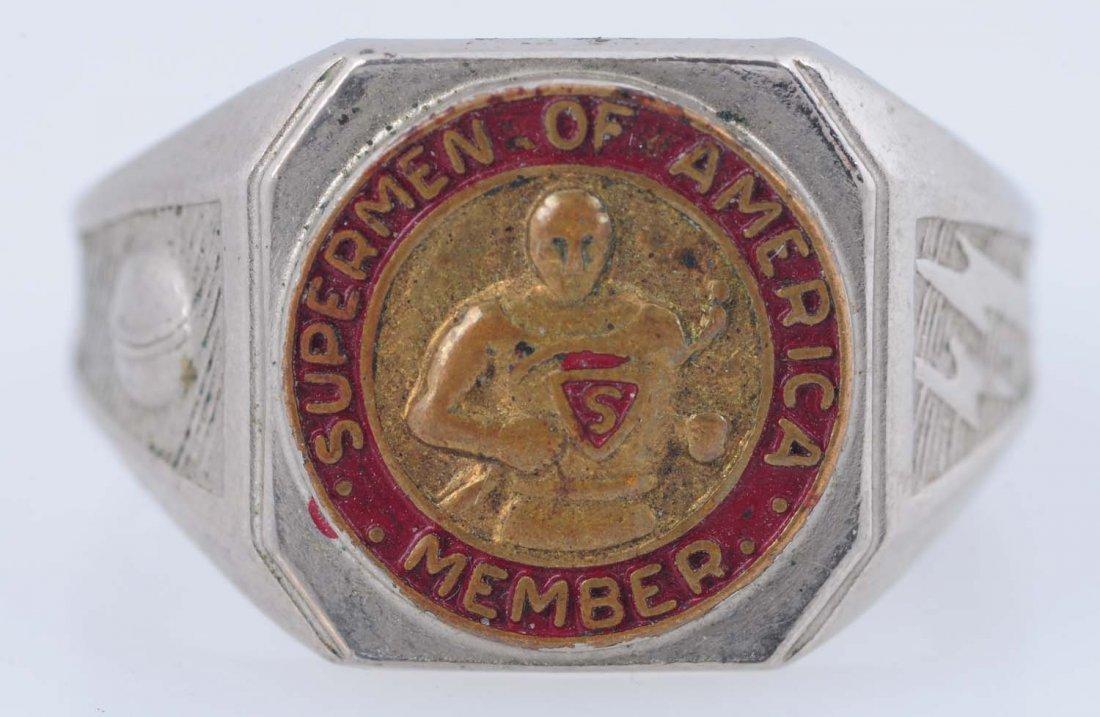 1940 Superman of America Membership Ring. - 5