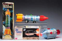 Lot of 2 Japanese Battery Operated Space Rockets