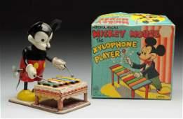 Linemar WindUp Mickey Mouse Xylophone Player