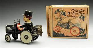 Marx Wind-Up Charlie McCarthy Whoopee Car Toy.