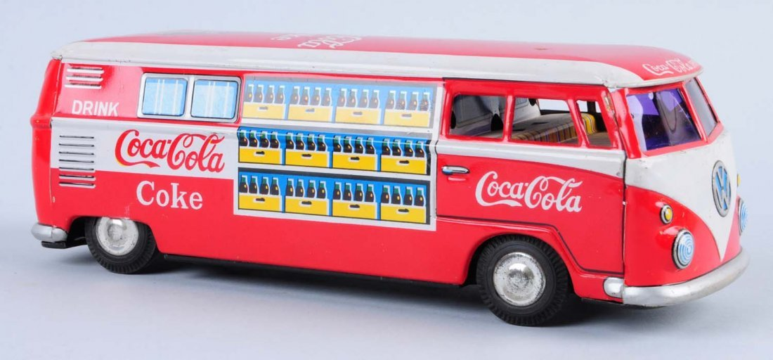 1960s Coca - Cola Volkswagen Bus Toy.