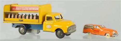 Lot of 2 1950s CocaCola Trucks