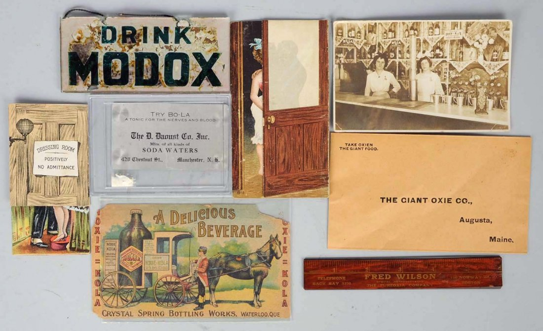 Lot of 8: Assorted Small Advertising Items.