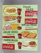Lot Of 5 Coca Cola  Food Diner Signs