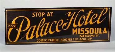 Tin Palace Hotel Sign