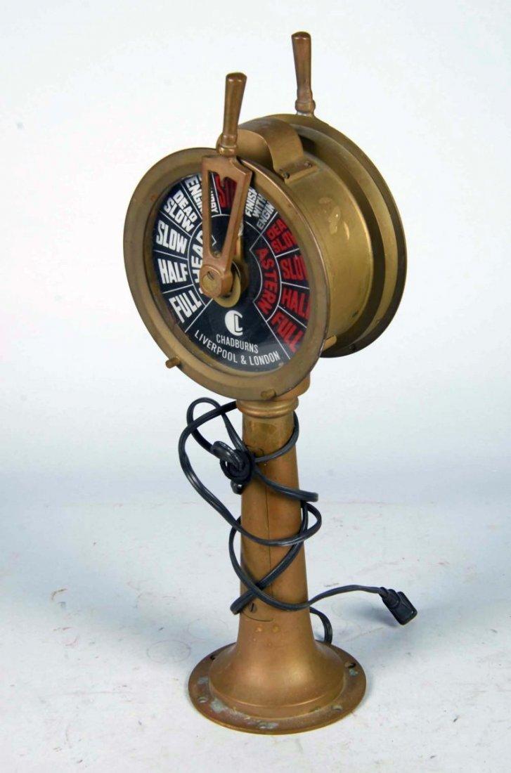 Chadburns Liverpool & London Brass Ship Telegraph - 2