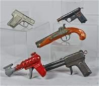 Lot Of 5 Toy Guns Cap or Water Guns