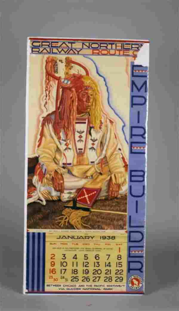 Great Northern Railway Blackfeet Indian Calendar