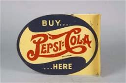Buy Pepsi Here Tin Litho Flange Sign Double Dash