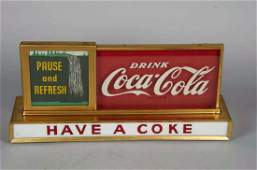 Coca Cola Light Up Countertop Waterfall Sign