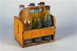 Drink Coca Cola Wood 6 Pack Bottle Carrier