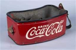 Coca Cola Painted Metal Sports Vendors Carrier