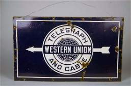Big Western Union Telegraph and Cable Sign