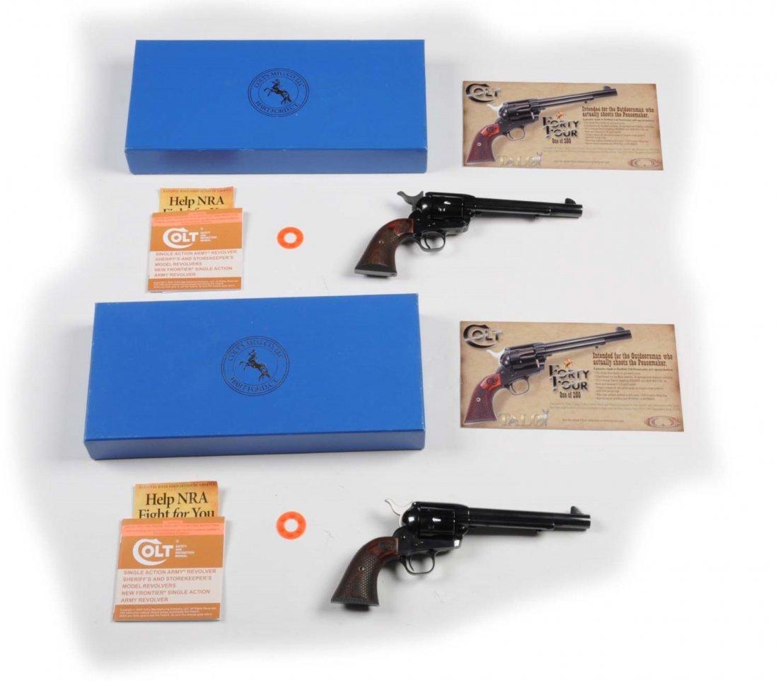Consecutive Pair Colt SAA Custom Shop Revolvers** - 4