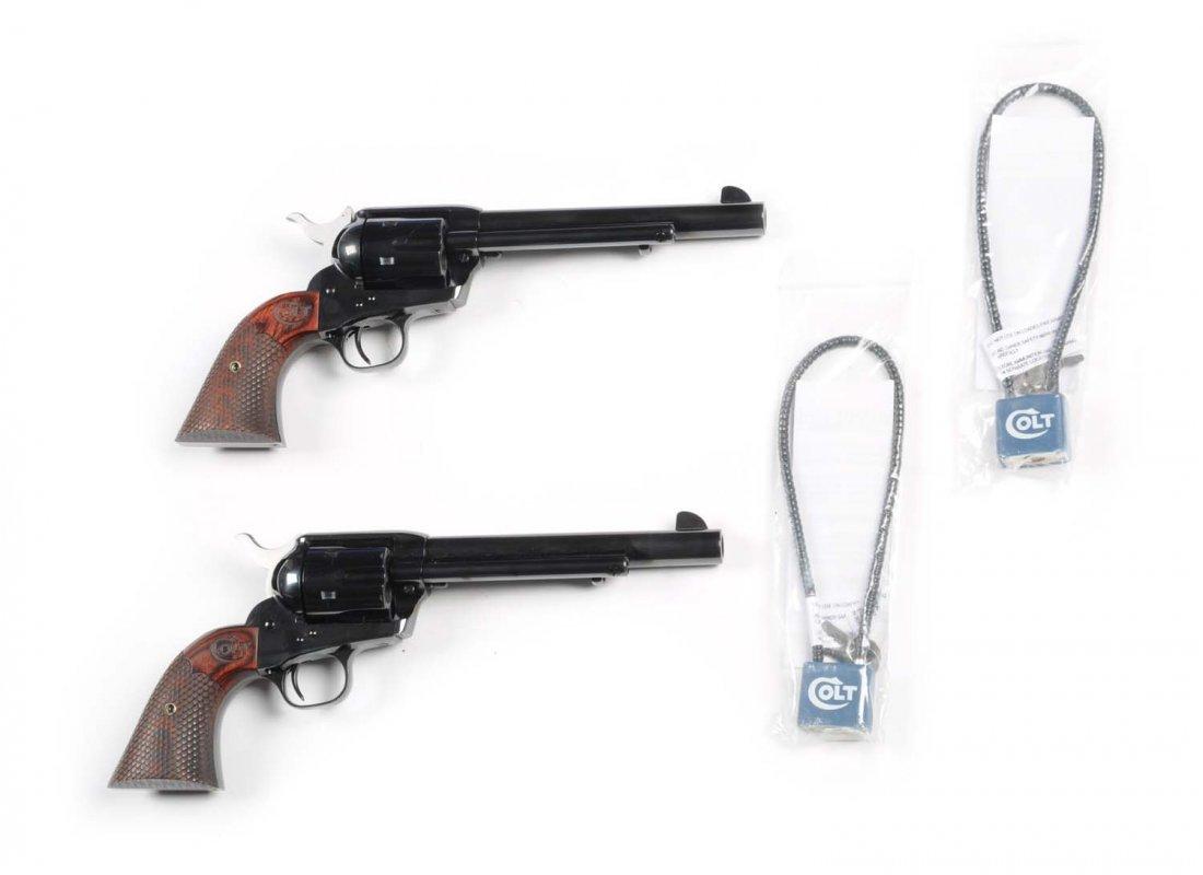 Consecutive Pair Colt SAA Custom Shop Revolvers** - 5
