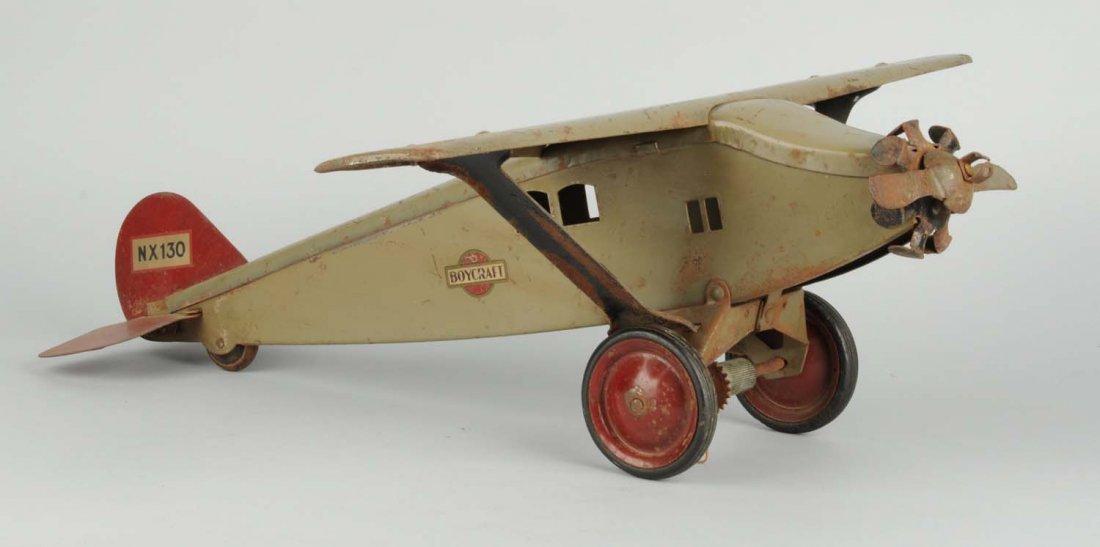 Pressed Steel Boycraft Airplane Toy.