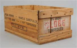 Wooden New Jersey Fireworks Crate