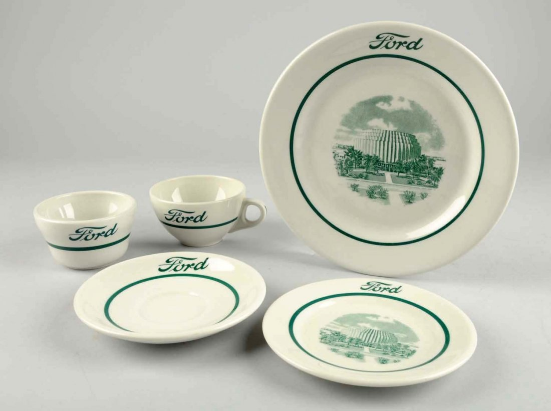 Lot of 5: Pieces of Ford China.
