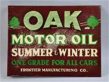 Oak Motor Oil Tim Flange Sign