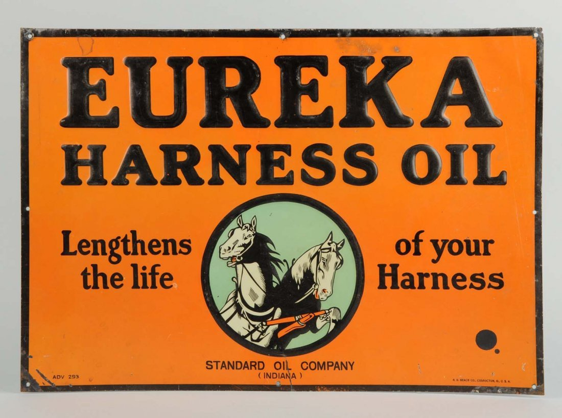 Eureka Harness Oil Tin Sign.