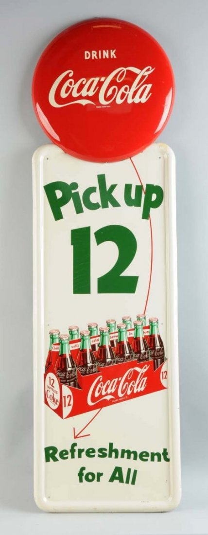 1954 Coca-Cola 12 Pack Pilaster & Button.