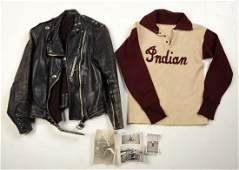Lot Of 2 Indian Motorcycle Jacket  Photos