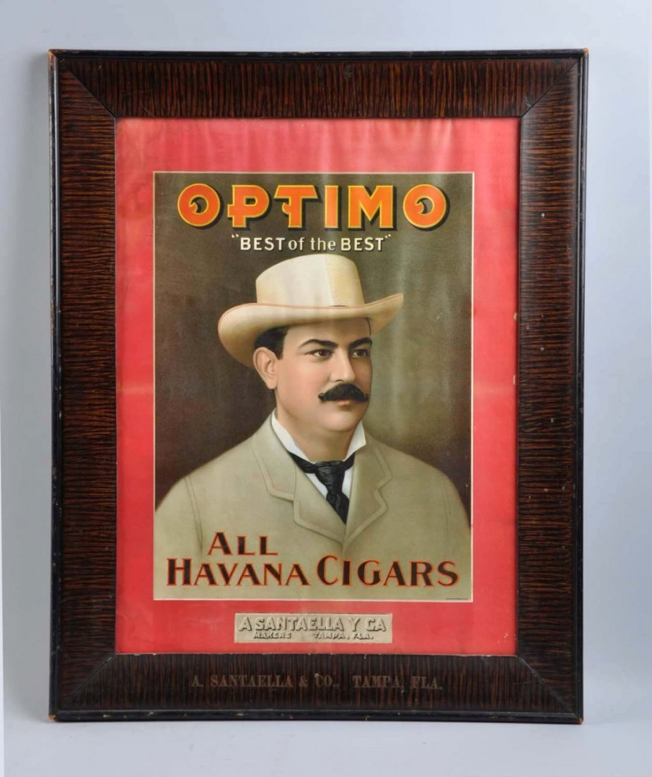 Optimo Cigars Early Paper Sign.