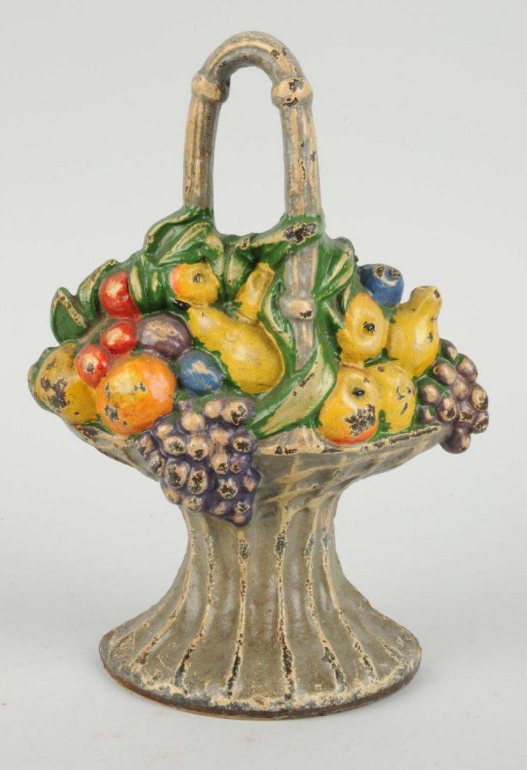 Cast Iron Mixed Fruit in Basket Doorstop