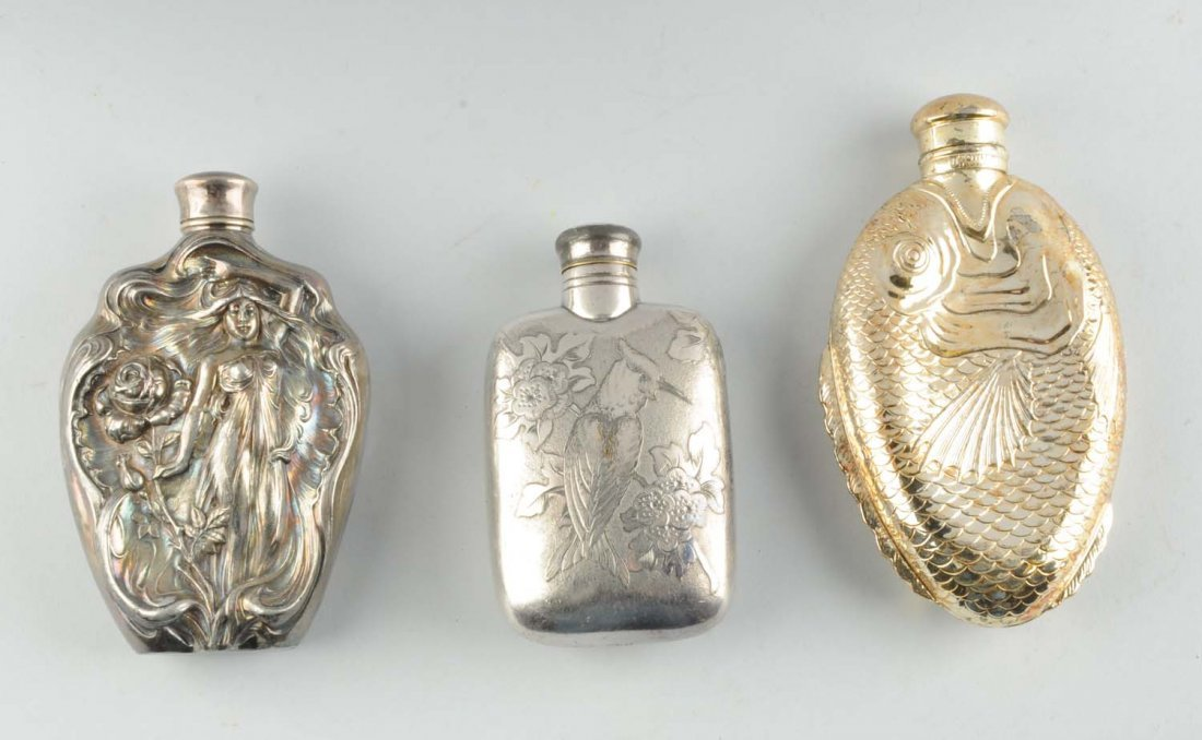 Lot Of 3: Whiskey Flasks.