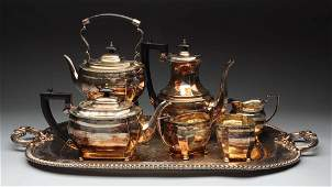 7 Piece Silver Plated Tea Set with Tray.