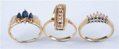 Lot Of 3 Gold Rings