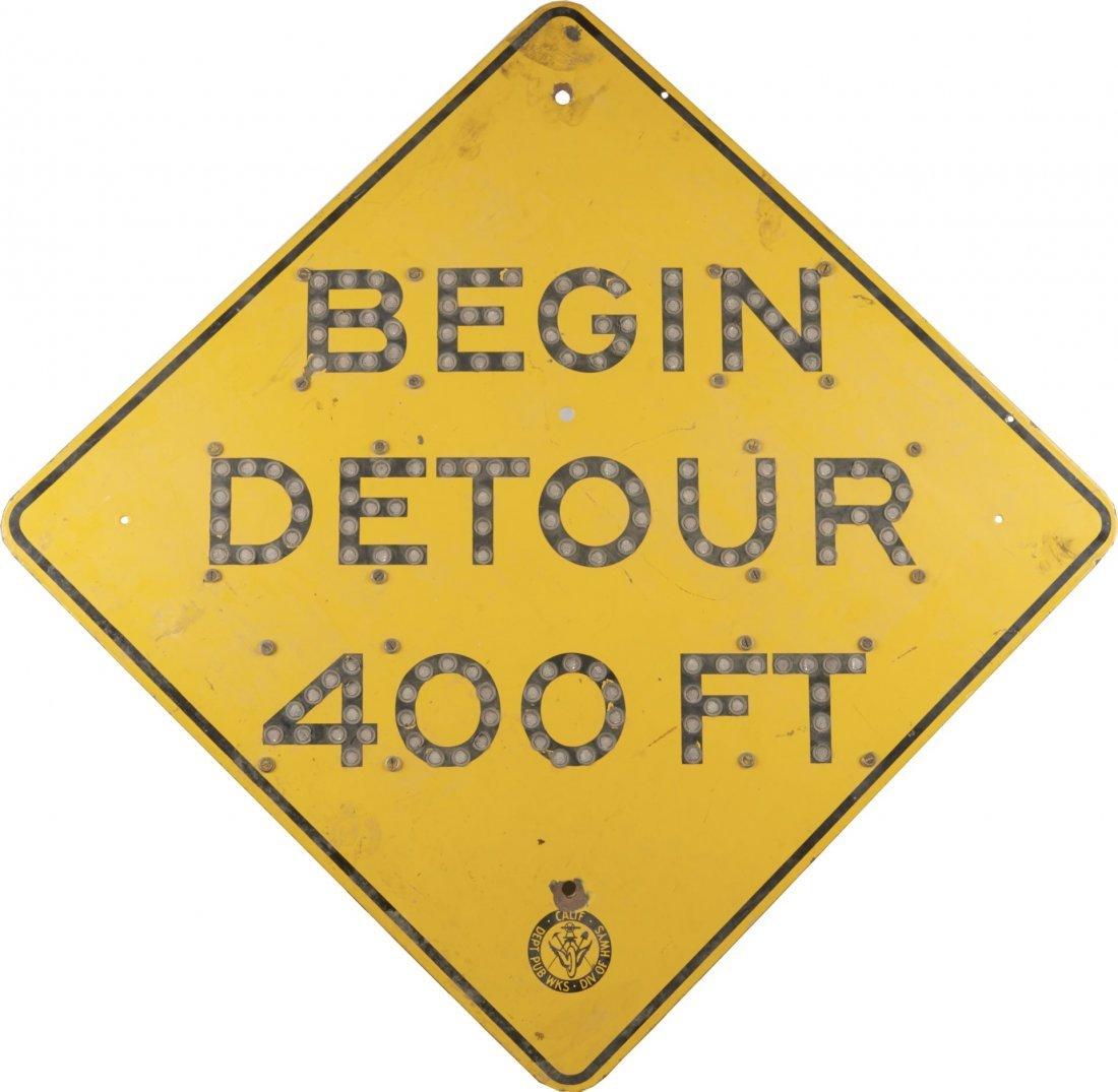 Begin Detour 400 Ft. Reflective Road Sign