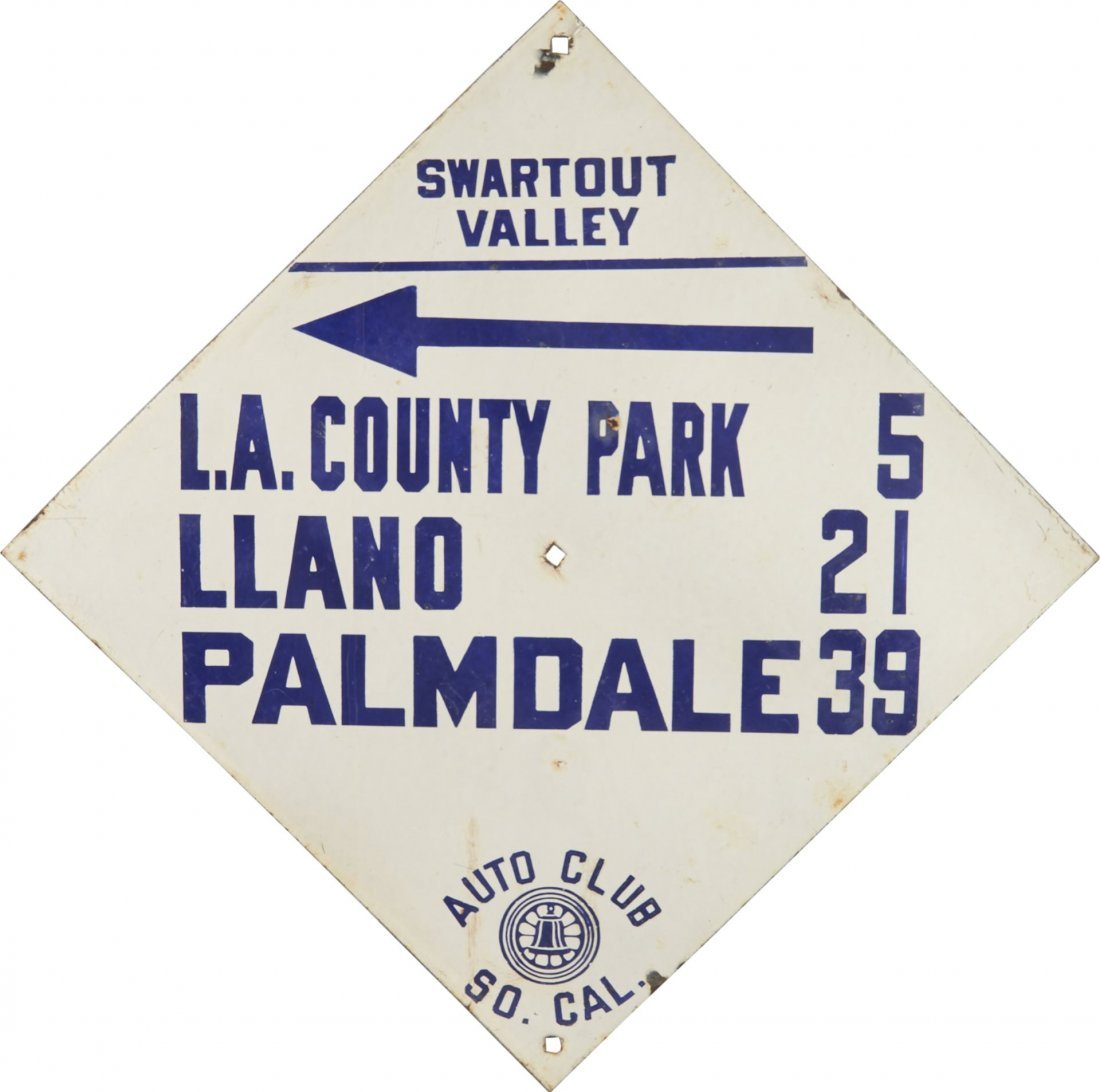 Auto Club Of Southern California Porcelain Sign