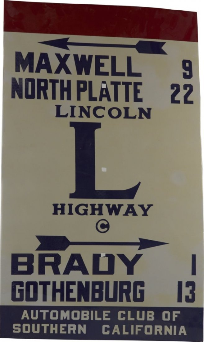 Auto Club Of Southern California Lincoln Hwy Sign