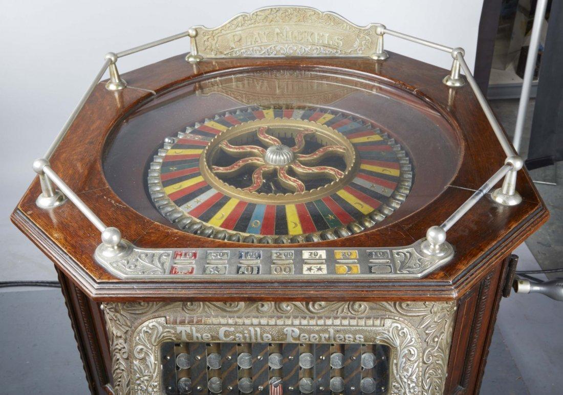 5 ¢ Caille Peerless Floor Roulette Slot Machine - 8