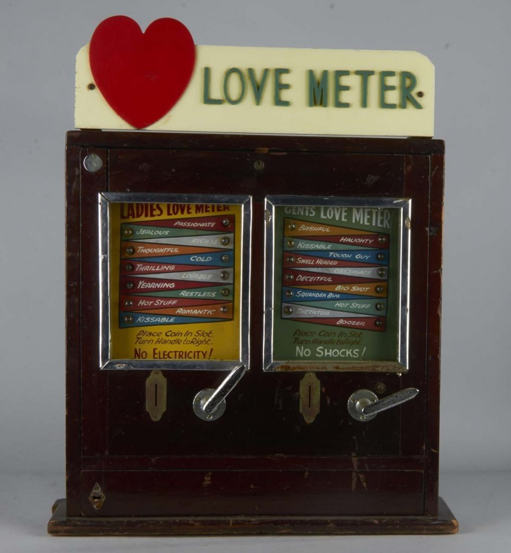 Coin-Op Love Meter Countertop Amusement Game - 2