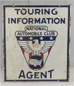 National Automobile Club Touring Info Agent Sign