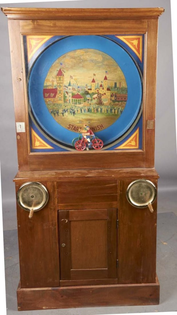 Coin Operated Hand Crank Bicycle Arcade Game