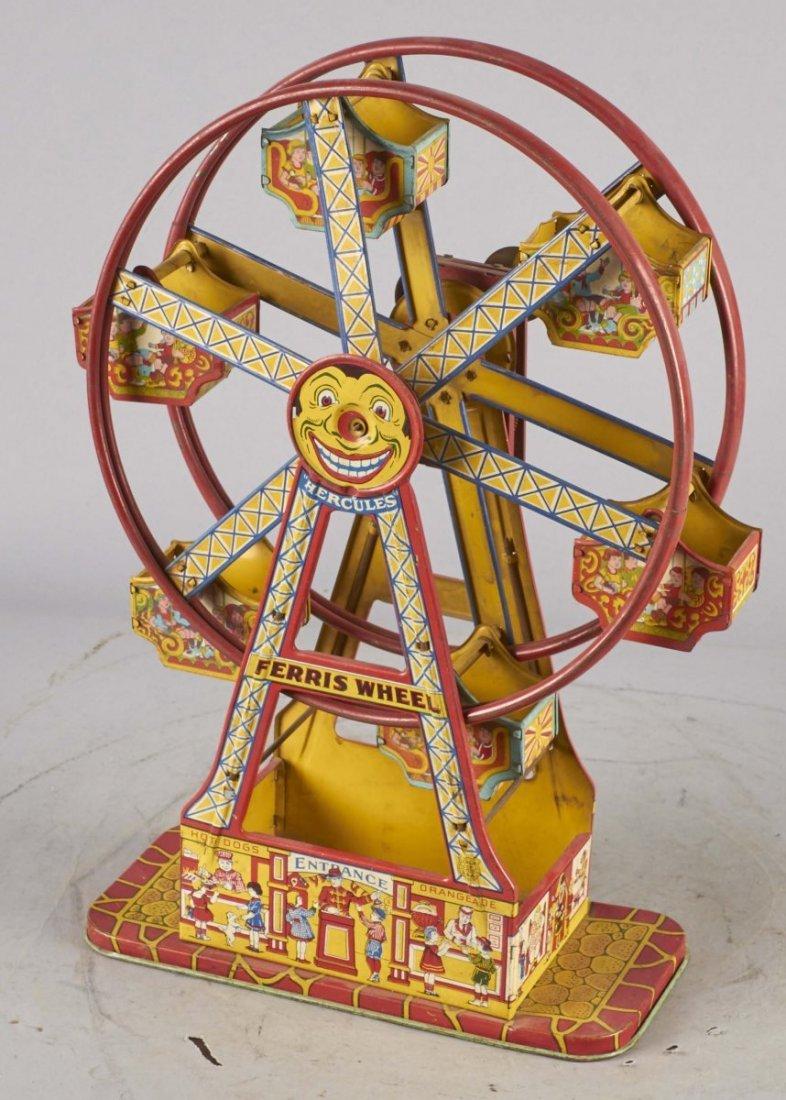 Early J Chein Hercules Tin Litho Ferris Wheel
