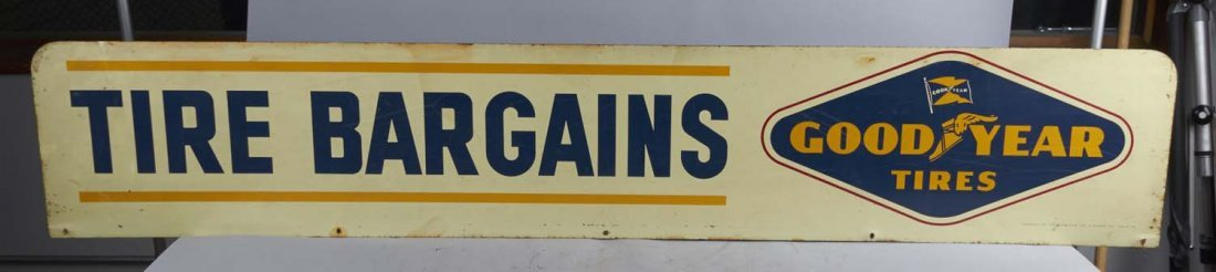 Long Goodyear Tires Tire Bargains Rack Sign