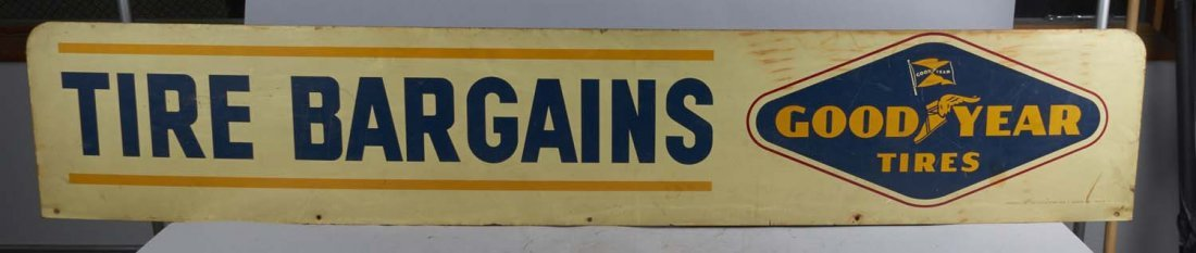 Long Goodyear Tires Tire Bargains Rack Sign - 2