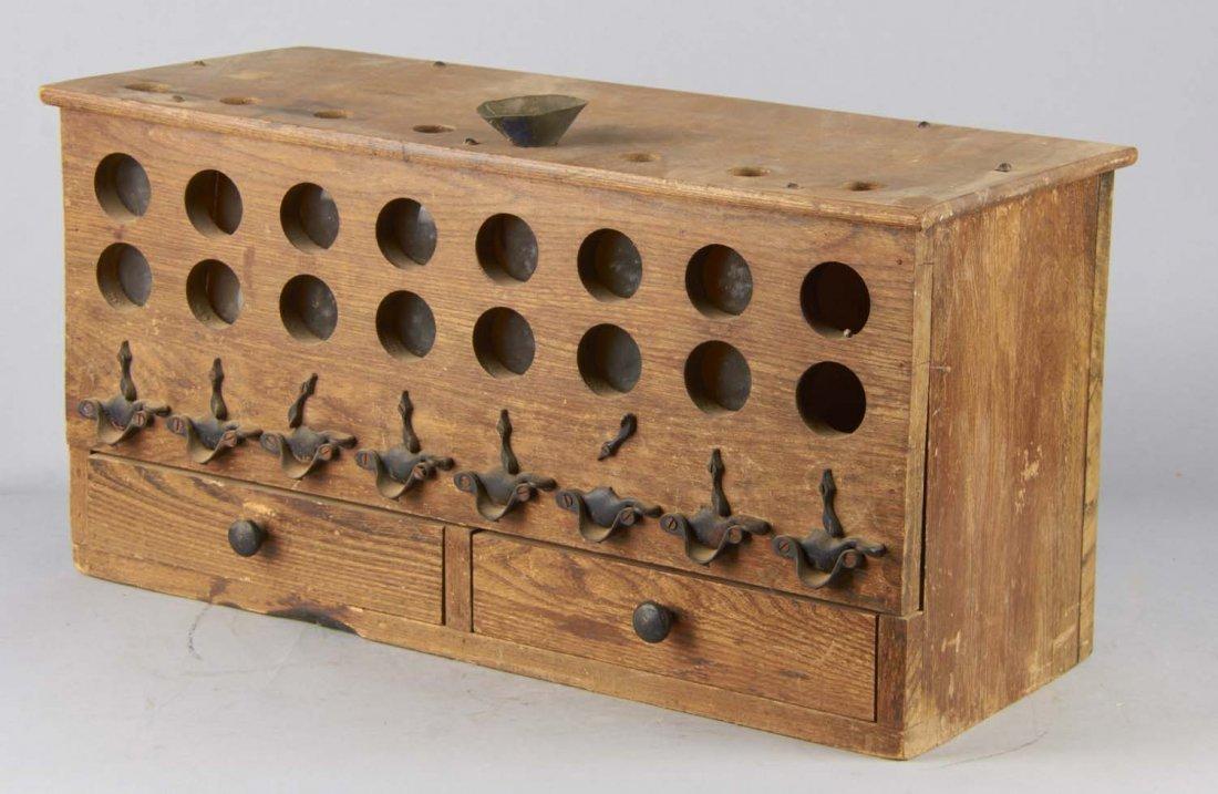 Antique Wood Countertop Buck Shot Dispenser - 3