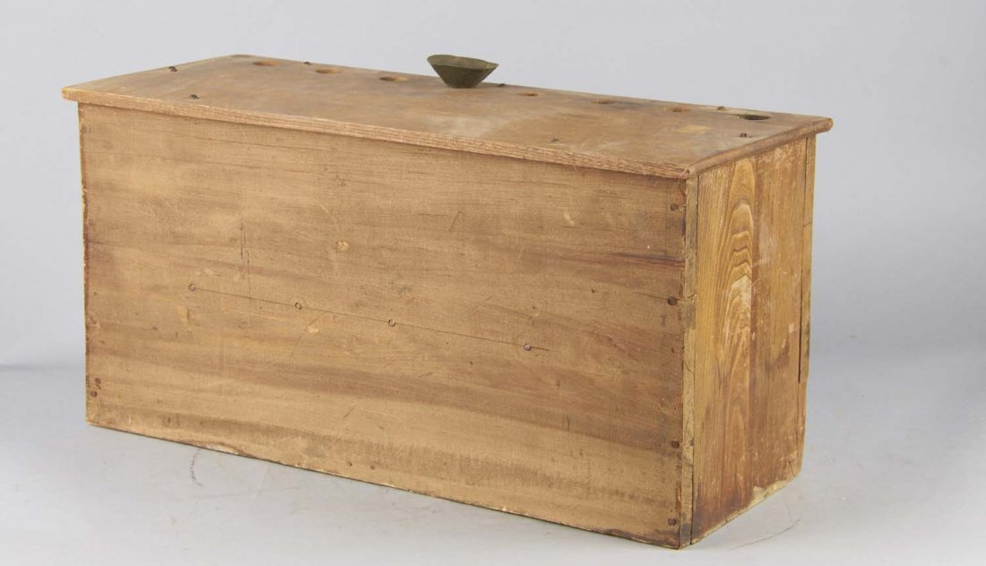 Antique Wood Countertop Buck Shot Dispenser - 6