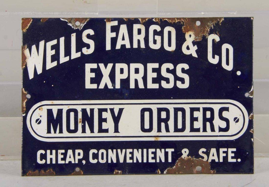 Wells Fargo Express Money Orders Porcelain Sign
