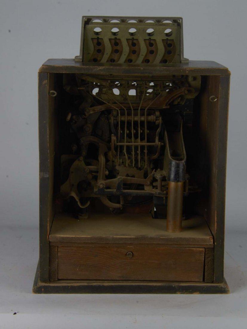 English Penny Greyhound Counter Wheel Machine