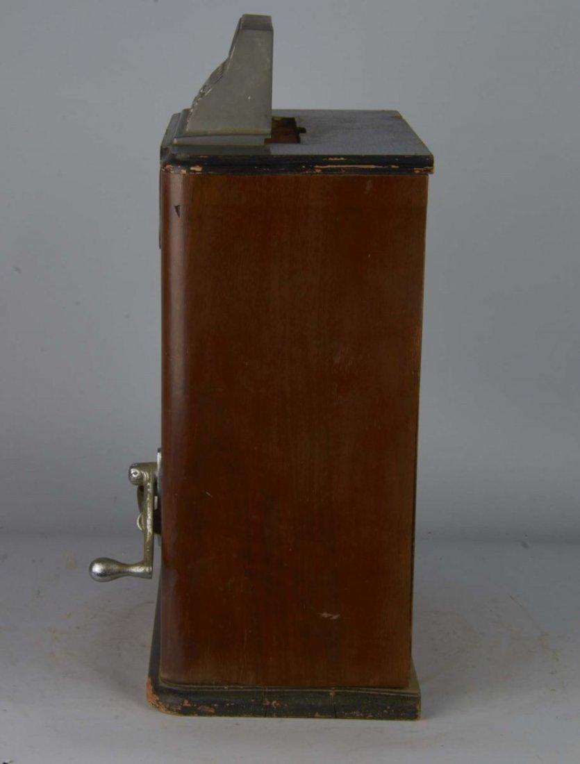 English Penny Greyhound Counter Wheel Machine - 2